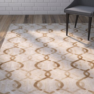 Van Wyck Cream Area Rug Rug Size: Rectangle 53 x 76