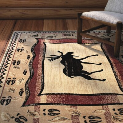 Iberide High-Quality Ultra Soft Traditional Berber/Red Area Rug Rug Size: 77 x 106
