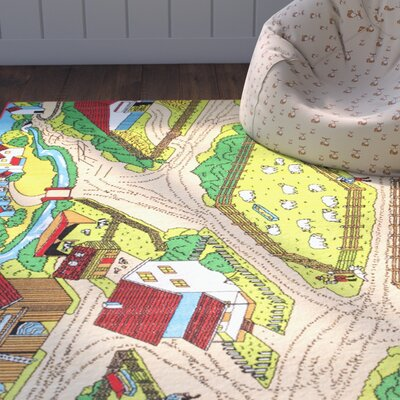 Teddy Bright Green/Beige Area Rug Rug Size: 33 x 410