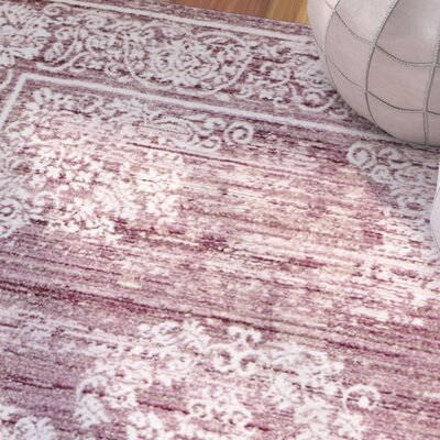Andrews Blush Rose Area Rug Rug Size: 38 x 57