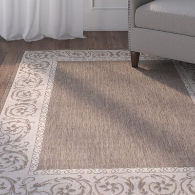 Annapolis All Weather Mocha Indoor/Outdoor Area Rug Rug Size: 5 x 7