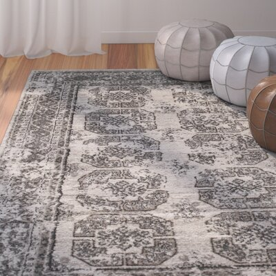 Wilkinson Birch White/Sterling Gray Area Rug Rug Size: 710 x 910