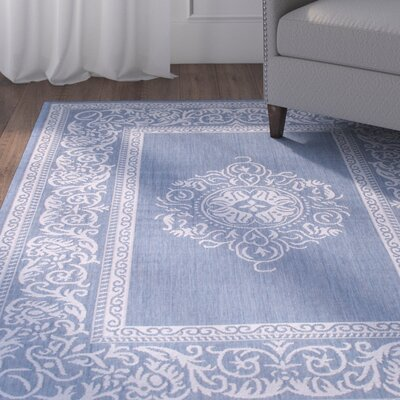 Bellwood All Weather Blue Indoor/Outdoor Area Rug Rug Size: 5 x 7