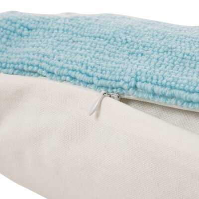 Hooked Joy 100% Cotton Lumbar Pillow