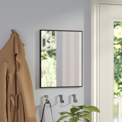 Rectangle Bronze Glass Wall Mirror Size: 16