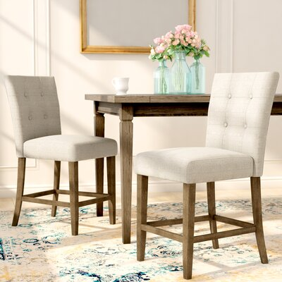 Dejardins Dining Chairs (Set of 2) Upholstery: Beige