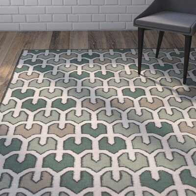 Criss Forest Geometric Area Rug Rug Size: Rectangle 33 x 53