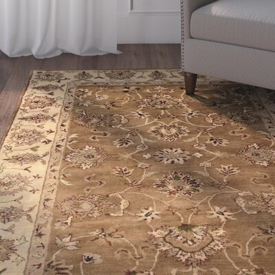 Gattis Hand-Tufted Wool Brown/Beige Area Rug Rug Size: Rectangle 110 x 210