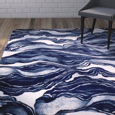 Cretys Marble Linen Area Rug Rug Size: 2' x 3'
