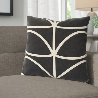 Calvin Stem Throw Pillow Color: Black, Fill Material: Down