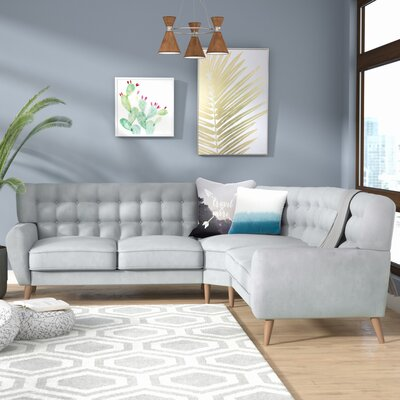 Blakeman Reversible Sectional Upholstery: Blue Haze