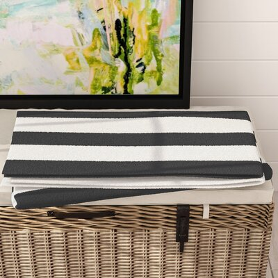 Westfield Stripe Bath Towel Color: Black