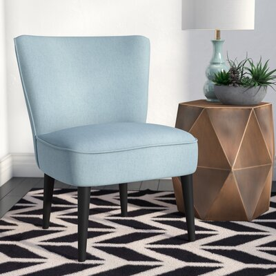Bufkin Side Chair Upholstery: Light Blue