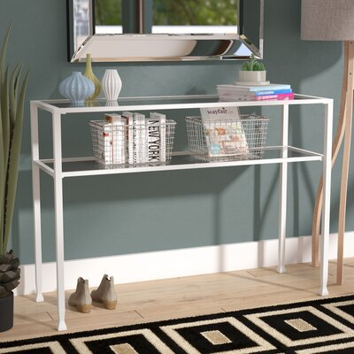 Casas Metal/Glass Console Table
