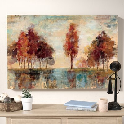 'Field and Forest' Painting Print on Wrapped Canvas Size: 24