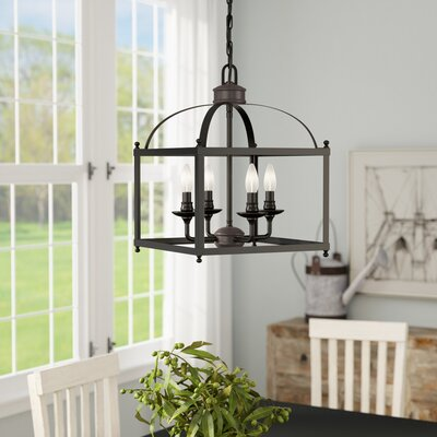Cleona 4-Light Foyer Pendant Finish: Architectural Bronze, Size: 87 H x 12.75 W x 12.75 D