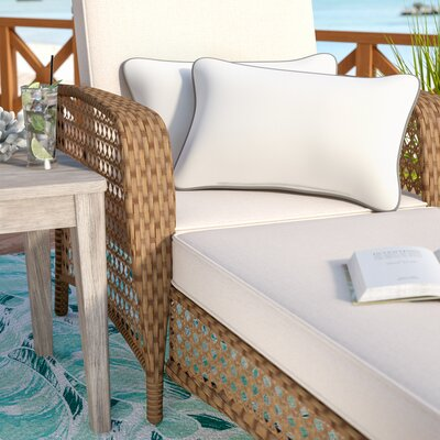 Dorset Indoor/Outdoor Sunbrella Lumbar Pillow Color: Charcoal