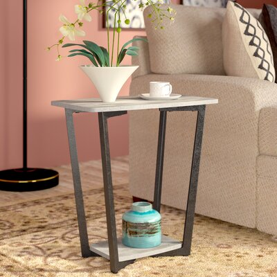 Duval End Table Finish: Gray/Black
