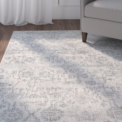 Alexis Hand-Tufted Medium Gray/Teal Area Rug Rug Size: 2 x 3