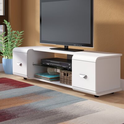 Norton 47-56 TV Stand Color: White, Width of TV Stand: 16 H x 56 W x 18 D