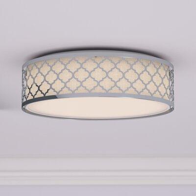 Aude 1-Light LED Flush Mount Finish: Polished Nickel