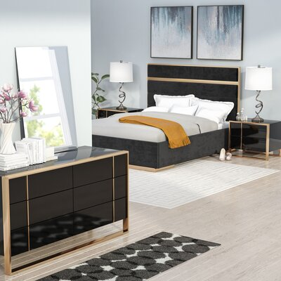 Carlile Panel Bedroom Set Size: Queen