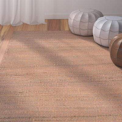 Uhlig Hand-Woven Rust Area Rug Rug Size: Rectangle 35 x 55