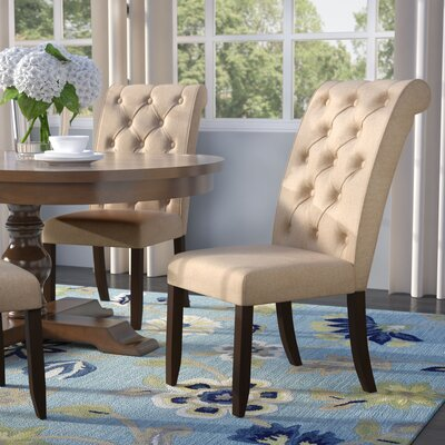 Lapeer Upholstered Side Chair Upholstery: Beige