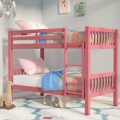 Nicholson Twin over Twin Bunk Bed Color: Pink