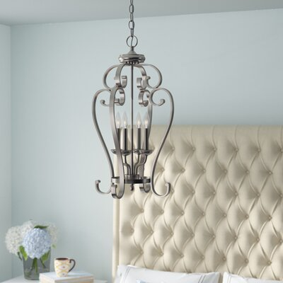 Greenwald Metal 4-Light Candle-Style Chandelier Finish: Brushed Nickel
