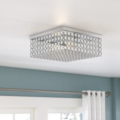 Guy Square 2-Light Flush Mount