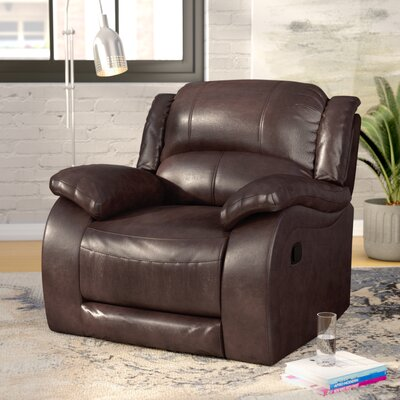 Juan Leather Manual Wall Hugger Recliner Upholstery: Espresso