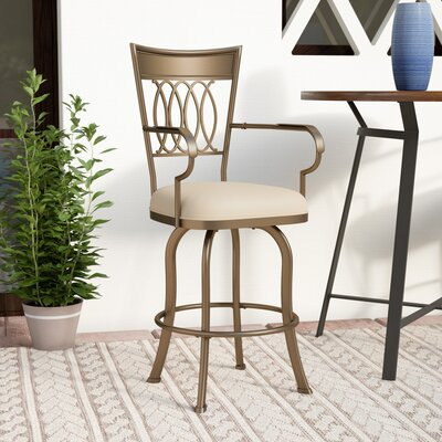 Grissom 26 Swivel Indoor/Outdoor Patio Bar Stool