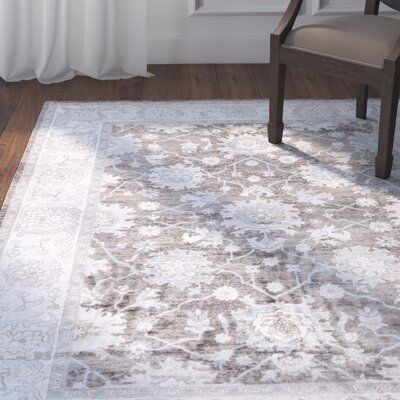 Vika Blue/Brown Area Rug Rug Size: 53 x 76