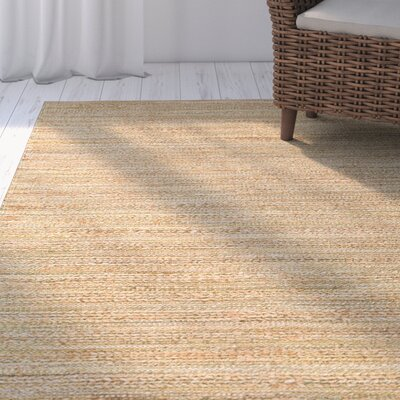 Ina Green/Brown Solid Area Rug Rug Size: 36 x 56