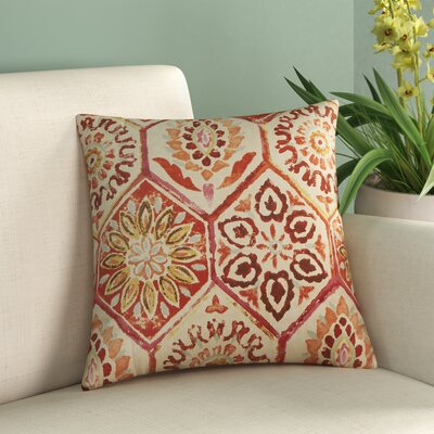 Dyanna Cotton Throw Pillow Size: 16.5 H x 16.5 W, Color: Crimson
