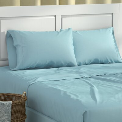 Cullen 600 Thread Count Sheet Set Color: Blue, Size: Queen