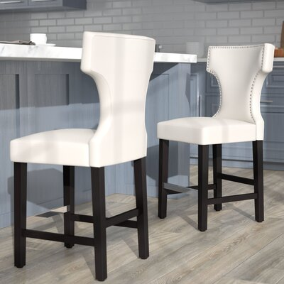 Laughing Sun 24 Bar Stool Upholstery: White