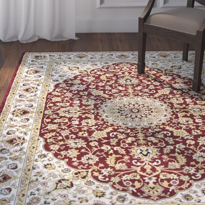 Adkisson Red Area Rug Rug Size: Rectangle 710 x 1010