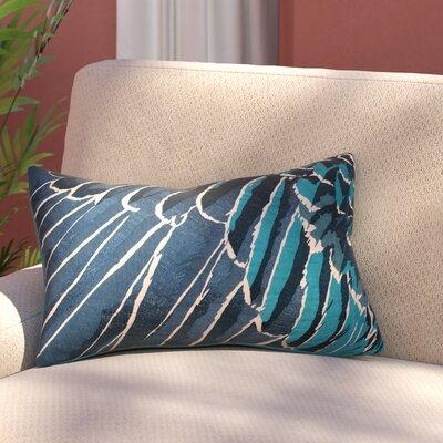 Jaimey Modern Animal Print Cotton Lumbar Pillow Color: Blue