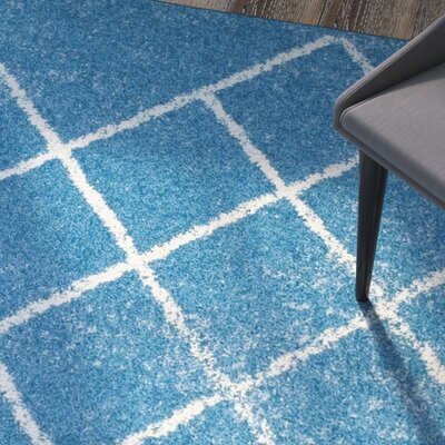 Verity Lattice Blue Area Rug Rug Size: Rectangle 4 x 6