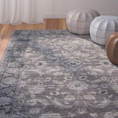 Brainerd Elegant Gray Area Rug Rug Size: 5 x 76