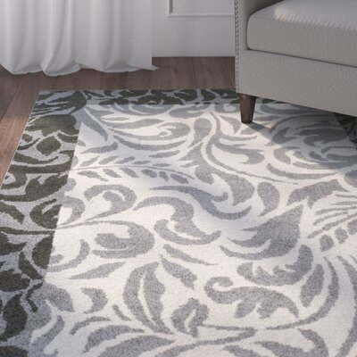 Camillus Gray Area Rug Rug Size: Rectangle 4 x 6