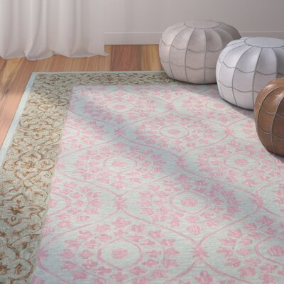 Tomo Hand-Hooked Taupe Area Rug Rug Size: Rectangle 8 x 10