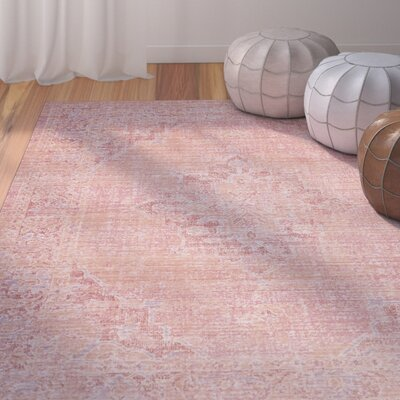 Chauncey Pink Area Rug Rug Size: Rectangle 4 x 6