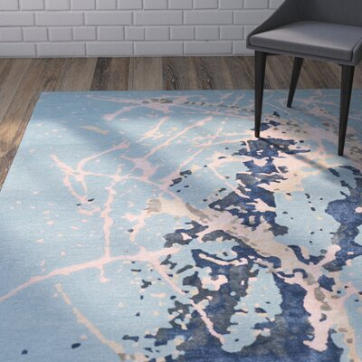 Schaub Hand-Tufted Blue Area Rug Rug Size: Rectangle 2' x 3'