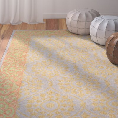 Tomo Hand-Hooked Orange Area Rug Rug Size: Rectangle 3 x 5