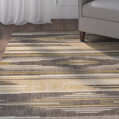 Ganley Native Chic Grey Area Rug Rug Size: Runner 27 x 72