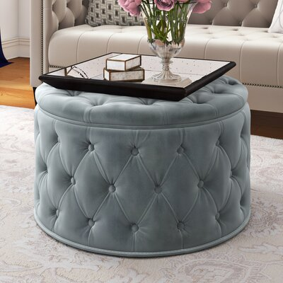 Bouchard Ottoman Upholstery: Light Gray