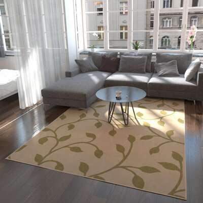 Marissa Beige/Green Outdoor Area Rug Rug Size: Rectangle 6 x 9